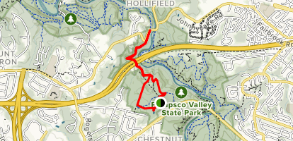Old Ranger Trail to Hollofield Access Trail Map