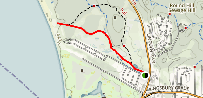 Lam Watah Nature Trail to Nevada Beach Map