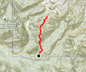 Kautz Creek Trail to Mirror Lakes Map