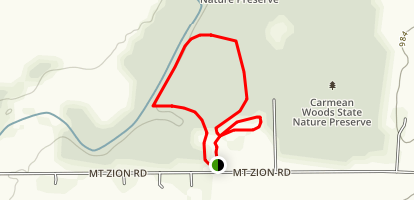 Sears Woods State Nature Preserve Loop Trail Map