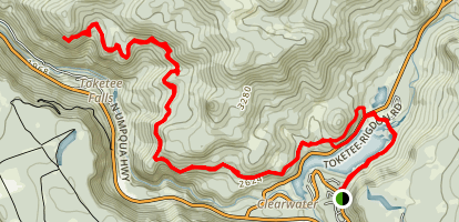 North Umpqua to Mount Thielsen Trail Map