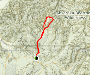 Hellroaring Creek Loop Trail Map