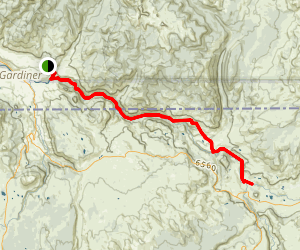 Black Canyon of the Yellowstone Trail Map