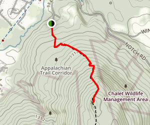 Cheshire Cobbles via Appalachian Trail Map