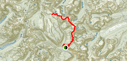Continental Divide Trail to Fifty Mountain Shelter Map
