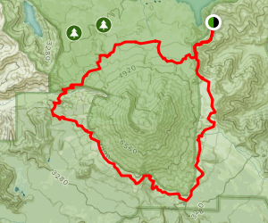 Mount St. Helens Loop Trail from Windy Ridge Map