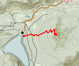Lost Lake Butte Trail Map