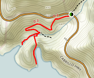 Partington Cove Trail Map