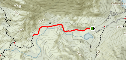 Glen Alpine Springs Resort Trail Map