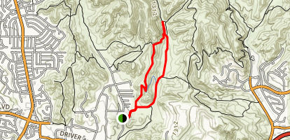 Modelo Trail to Cheeseboro Canyon Trail Loop Map