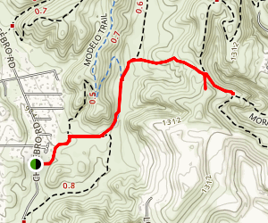 Cheeseboro Canyon View Trail  Map