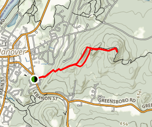Appalachian Trail: Velvet Rocks Map