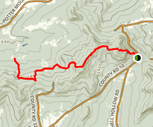 Long Path From Mount Pisgah to South Mountain Map