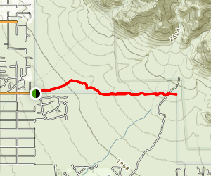 Lost Goldmine Trail (West section) Map