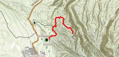 Koele Keomuku Trail Map