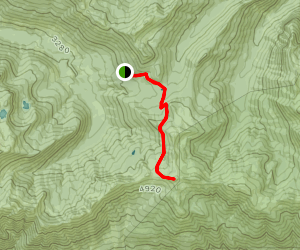 Damfino Lakes Trail to Excelsior Peak Map