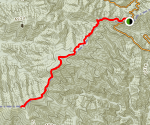 Newfound Gap to Clingmans Dome Trail Map