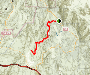 Noble Canyon Trail Map