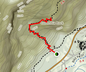 Columbia Rock Trail Map