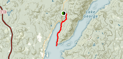 Northwest Bay of Lake George Trail Map