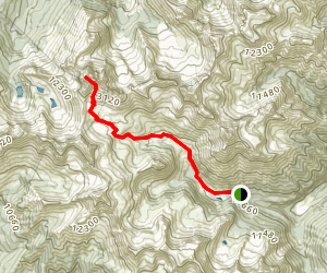 Mount Sneffels Classic Route - Yankee Boy Basin Map