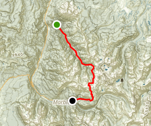 Avalanche Creek Trail Map
