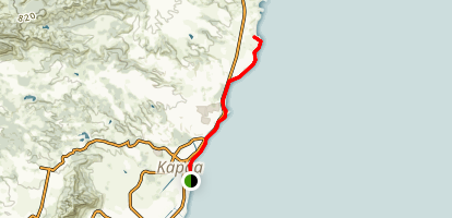 Kapa'a Shoreline Trail Map