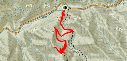 Desolation Trail to Salt Lake Overlook Map