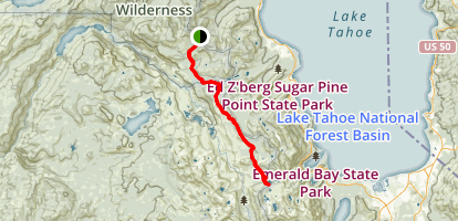 Barker Pass to Middle Velma Lake Map