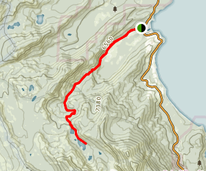 Meeks Bay Trail to Lake Genevieve and Crag Lake Map