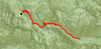 Cascade Pass Trail to Cottonwood Camp Map