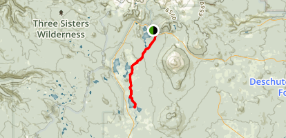Sparks Lake Trail Map