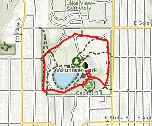 Volunteer Park Loop Map