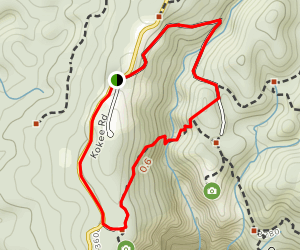 Puuhinahina Lookout Loop Map