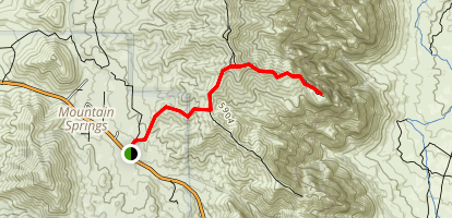 Mountain Springs Trail Map