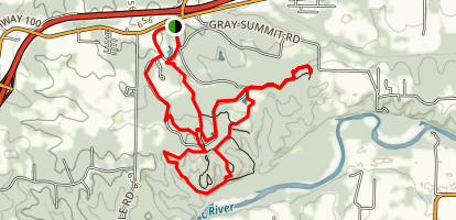 Shaw Nature Reserve Trail Map