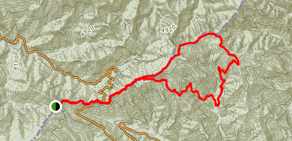 Appalachian Trail and Sweat Heifer Grassy Branch Loop Trail Map