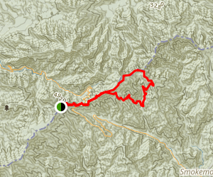 Sweat Heifer Grassy Branch Loop Trail Map