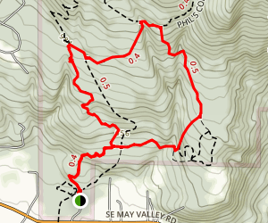 Squak Mountain Shorter Loop Map