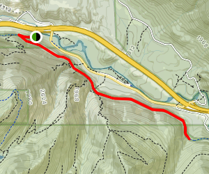Iron Horse Trail: Upper Twin Falls to Mine Creek Map