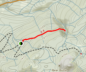 Rancheria Falls Trail Map