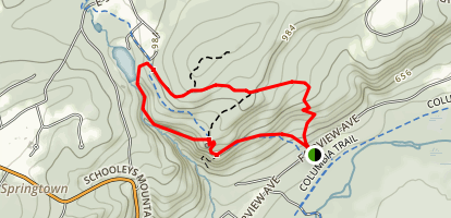 Schooley's Mountain Boulder Gorge Loop Trail Map