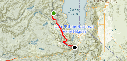 Barker Pass to Echo Lakes Map
