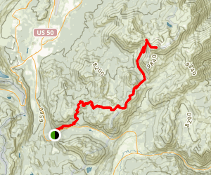 Freel Peak Via TRT Trail Map