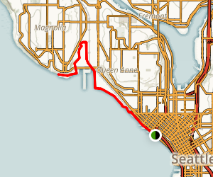 Seattle Waterfront Pathway Map