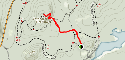 Cathedral Rock Map