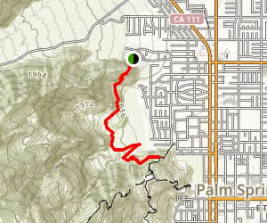 North Carl Lykken Trail to Falls Overlook Map