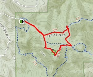 Castle, Meadow, and Tower Trails Map