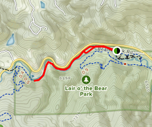 Bear Creek Trail to the Castle Map