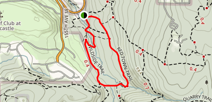 Red Town and Wildside Trails Map